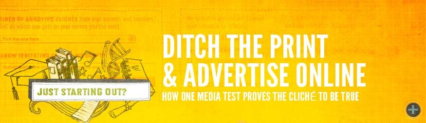 Ditch the print and advertise online