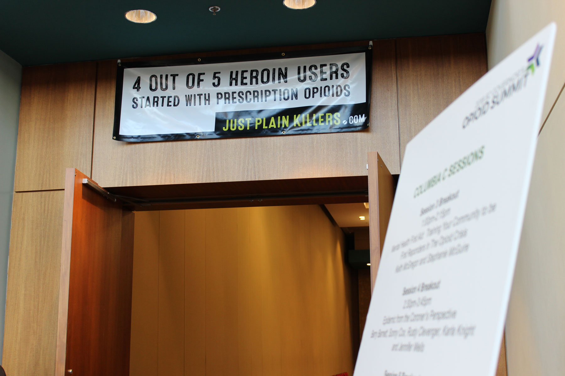 Banner at the SC Governor's Opioid Summit