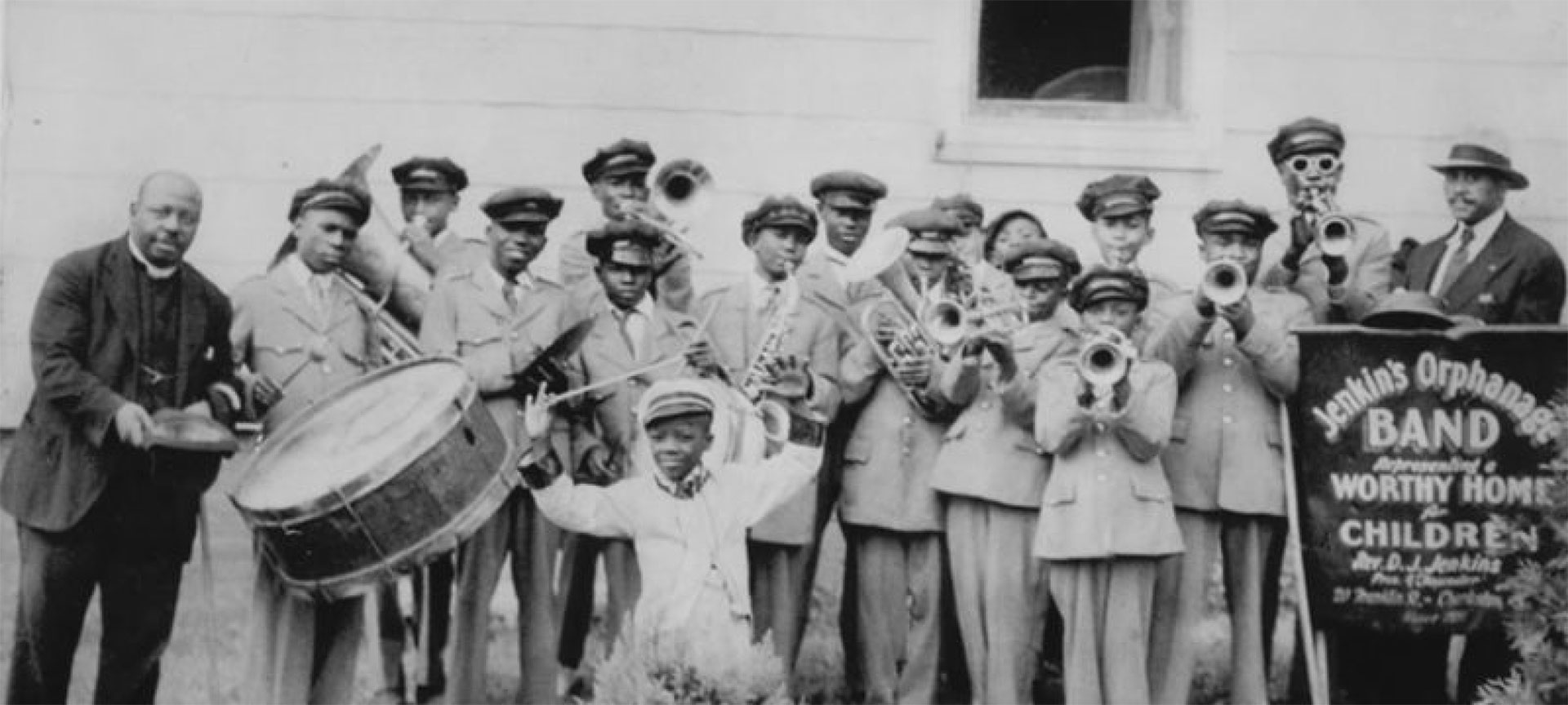 Historic photo shows the Jenkins' Orphanage Band in uniform