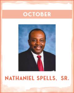 NATHANIEL SPELLS, SR. - SC African American History Calendar October