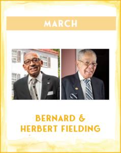 BERNARD & HERBERT FIELDING - SC African American History Calendar March