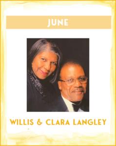 WILLIS & CLARA LANGLEY - SC African American History Calendar June