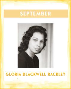 GLORIA BLACKWELL RACKLEY - SC African American History Calendar September