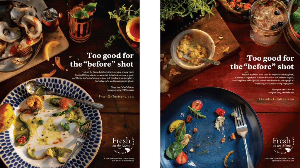 Print ads for Fresh on the Menu