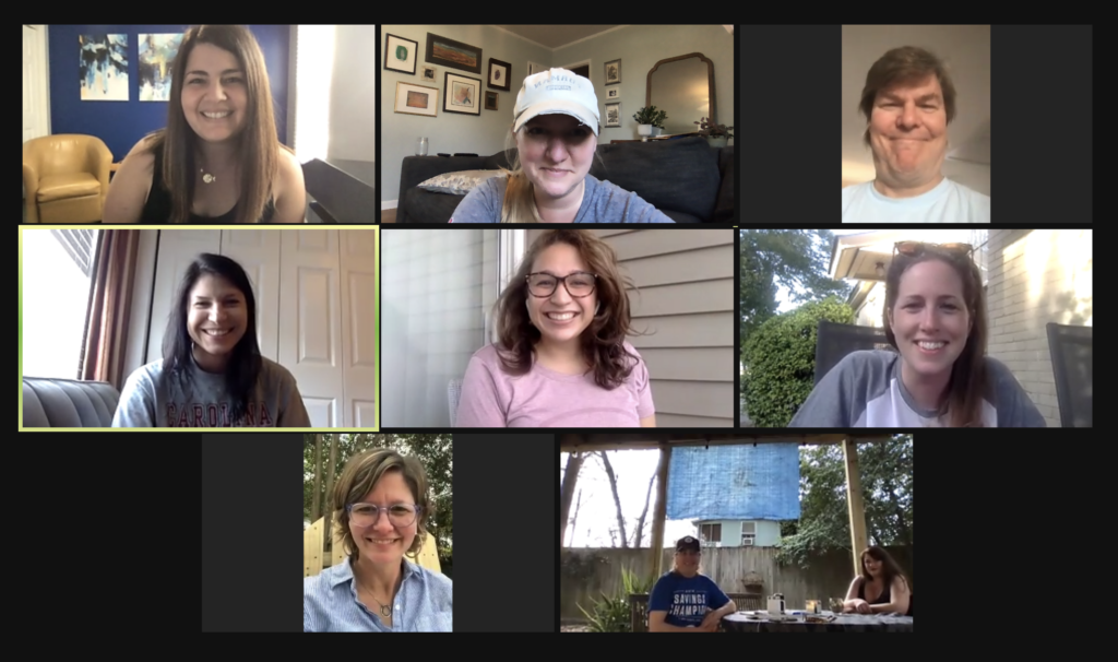 The Chernoff Newman team honored the tradition of meeting ahead of the American Advertising Awards for cocktails. This time is was virtual.