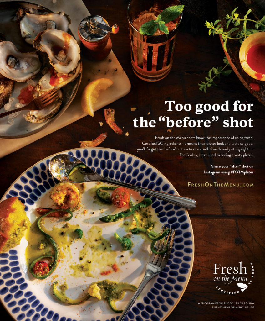 Fresh on the Menu Print Advertising Example